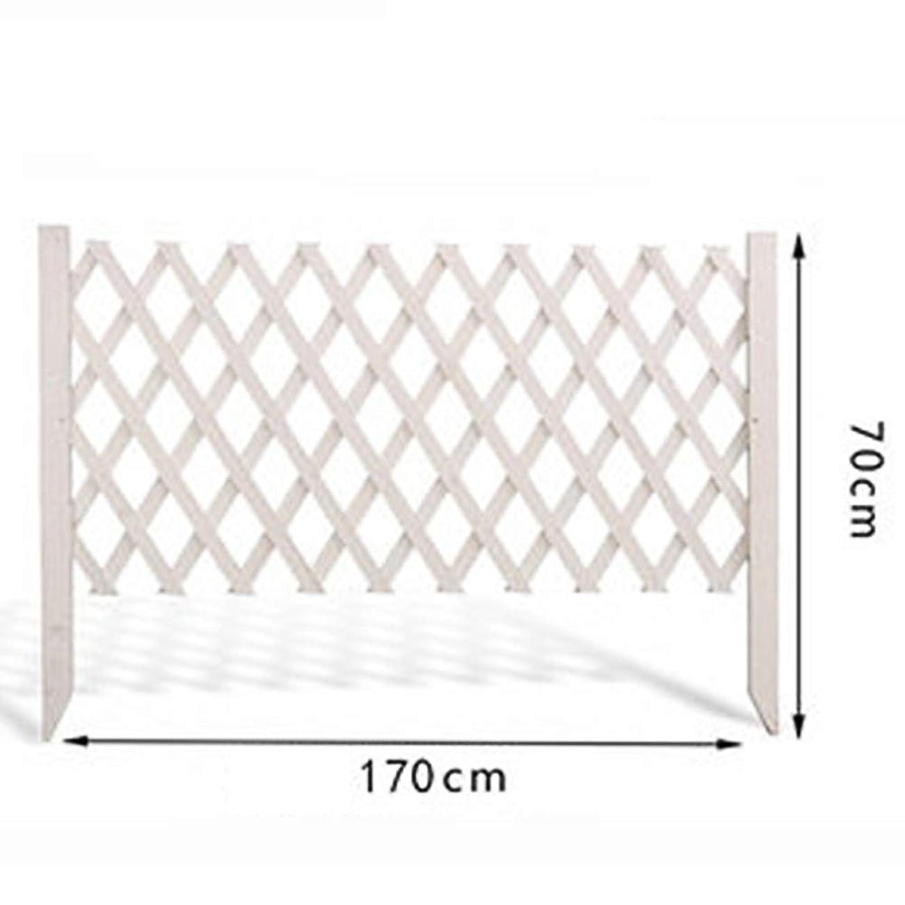 LIXIONG ボーダーフェンス ガーデンフェンス屋外の 拡大する フェンス デコレーション 工場 ピケット フェンシング 木製 工場 柵 にとって 中庭 花 植付、 3サイズ (Color : White, Size : 170x70cm)