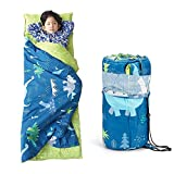 NEDVI Toddler Nap Mat with Carry Bag,Sleeping Bag with Removable Pillow,Measure 55x 21 x 1.5 Inches,Toddler Travel Bed,Lightweight - Cotton Soft,for Preschool, Daycare,Camping- Dinosaur