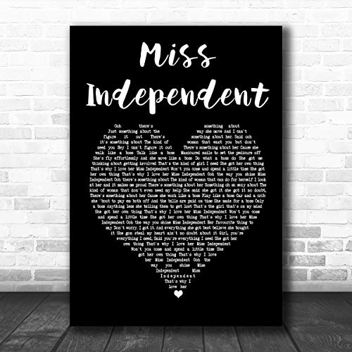 DatCee Ne-Yo Miss Independent Black Heart Song Lyric Art Prints Poster Music Art Wall Art Home Decor Gifts for Lovers Painting