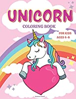 Unicorn Coloring Book for Kids Ages 4-8: Fun Activity Book for kids 4-8 Beautiful Princesses, Rainbow, Stars, and Magic