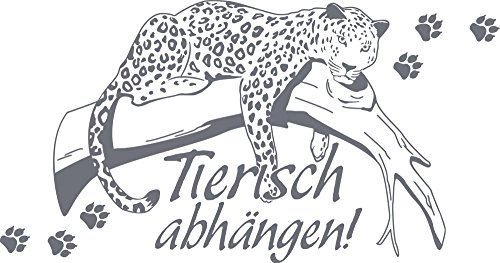 GRAZDesign Wandaufkleber Leopard Wildnis - Wandbilder Wohnzimmer Flur Leopardenmuster - Wandtattoo Tierisch abhängen / 109x57cm / 640104_57_071