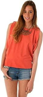 Hipster Artj50758Bo-S Blouse Top For Women - S, Orange