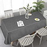Material - Die Tischdecken bestehen aus100 Prozent hochwertigem Polyester mit Leinenoptik und bringen Naturalgeführ, Fleckenschutz, wasserabweisend, reißfest, strapazierfähig, leicht und einfach zu reinigen.Es ist geeignet für Ihren rechteckigen Tisc...