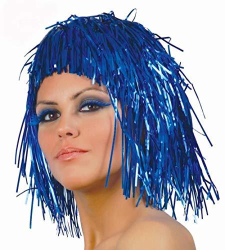 Guirca Blaue Lametta Perücke für Damen