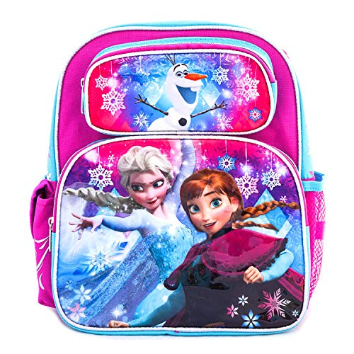 Frozen Rolling Backpack Anna & Elsa Disney Backpack School, Travel Bag (12 Inch Carry Purple)
