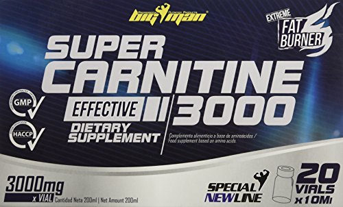 Big Man Nutrition Super Carnitine 3000 Quemagrasas Limón - 20 Unidades