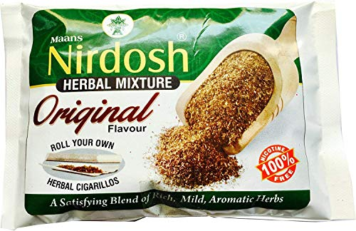 NIRDOSH Organic Herbal Natural Smoking Mixture 100% Nicotine Tobacco Free - 1 Pack (1.75oz Per Pack) Pouch Packaging