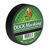 Duck 240877 Color Masking Tape, 0.94-Inch by 30-Yard (Single Roll), Black