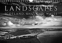 Landscapes - Scotland, England, Wales / UK-Version (Wall Calendar 2021 DIN A4 Landscape): Atmospheric Black and White Landscape Photographs of Scotland, England and Wales. (Monthly calendar, 14 pages )