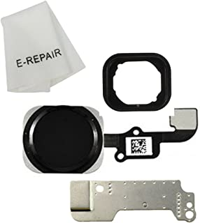 Home Button Key Flex Cable Assembly with Rubber Ring Replacment Part for Iphone 6 and 6 Plus (Black)