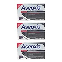 Asepxia Charcoal Cleansing Bar Soap. For Acne and Blackheads. Removes Impurities and Toxins. Helps Oily Skin. With Salycilic Acid. 4 Oz. Pack of 3