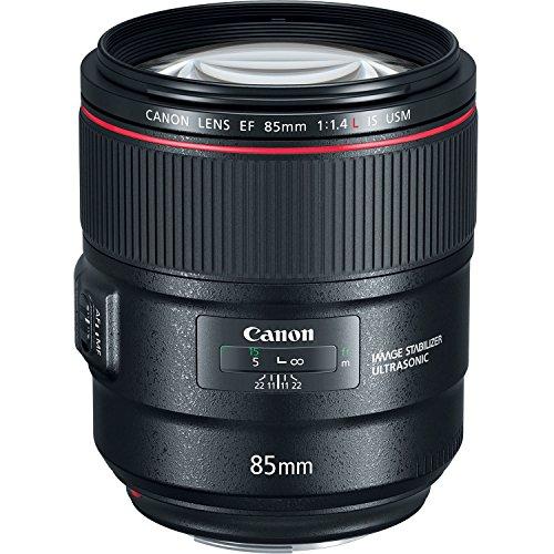 Canon Porträtobjektiv EF 85mm F1.4L IS USM für EOS (Festbrennweite, 77mm Filtergewinde, Autofokus, Bildstabilisator), schwarz