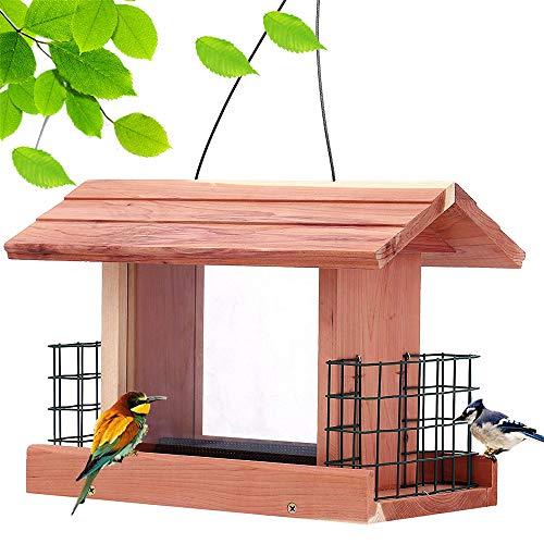 Solution4Patio Homes Garden USA Cedar Bird Feeder Wildbird...