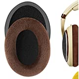 Geekria Comfort Velour Replacement Almohadillas para Sennheiser HD598, HD598SE, HD598CS Almohadillas para auriculares, piezas de reparación de almohadillas para auriculares (marrón)