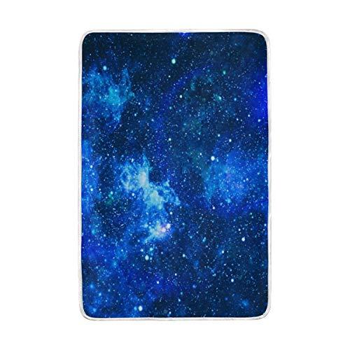 CPYang Galaxy Star Weltraum-Überwurf, weich, warm, Mikrofaser, für Bett Couch-Decken für Erwachsene, Mädchen, Jungen, Kinder, 152 x 229 cm