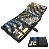 Joc de 72 Professional Llapis de Colors, *Lapices de Dibuix Artístic Conjunt *Acuarelables, Carbó, Estoig Llapis, Ideal per a Artistes, Adults i Nens Acolorir, Dibuix i Esbossos