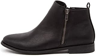 Verali Eddie Ve Black Smooth Womens Shoes Flat Ankle Boots