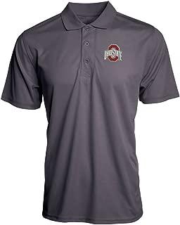 Elite Fan Shop Ohio State Buckeyes Textured Interlock Polo Graphite