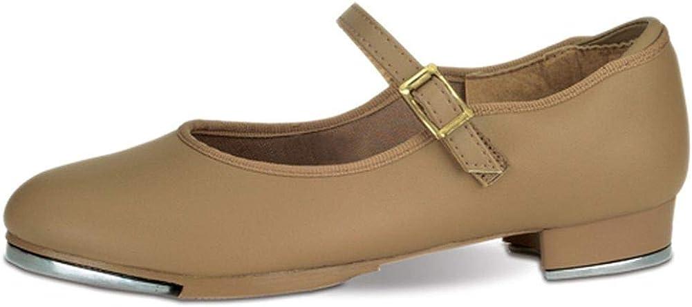 Danshuz Toddler Girls Tan Single Strap Non Skid Tap Shoes Size 9.5