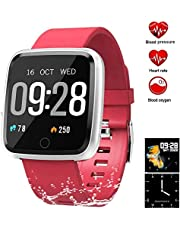 YUNSYE Waterproof Fitness Tracker Sport Watch Smart Bracelet with Pedometer Calorie Counter Heart Rate Sleep Monitor for Kids Women Men Activity Tracker