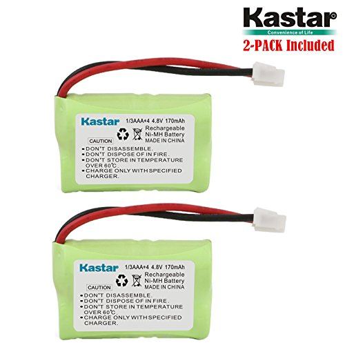 Kastar 2-Pack 4.8V 170mAh Ni-MH Rechargeable Battery for PetSafe Yard & Park Remote Dog Trainer, PDT00-12470 RFA-417 PAC00-12159 FR-200P Collar Receiver Plus Coaster, SportDog FR200, SD-400, SD-800