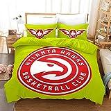 226 MILAIDI - Juego de funda de edredón 3D con logotipo de la NBA, diseño de Navidad, para niños y adultos, 100%...