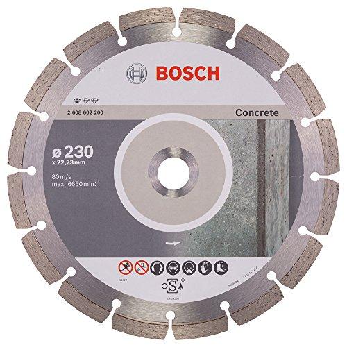 Bosch Professional Diamanttrennscheibe Standard für Concrete, 230 x 22,23 x 2,3 x 10 mm, 1-er Pack, 2608602200