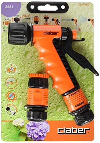 """Claber 8551 Kit de démarrage pour lance à pistolet d'arrosage, 1/2"""" (13 mm), noir/orange"""