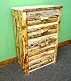 Midwest Log Furniture - Rustic Log Dresser - 5 Drawer