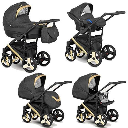 Poussette Combinée Trio landau 2en1 3en1 Isofix siège Auto Baleo by SaintBaby Gold Mine BaS-10 3en1 avec siège bébé