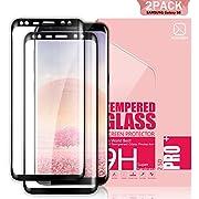 Youer Verre Trempé samsung Galaxy S8, [2 Pièces] Compatible 3D Touch en Verre Trempé écran Protecteur Vitre, Ultra Résistant, Dureté 9H, Sans Bulles, Couverture Parfaite, Anti Rayures Glass Pour Galaxy S8 - Noir