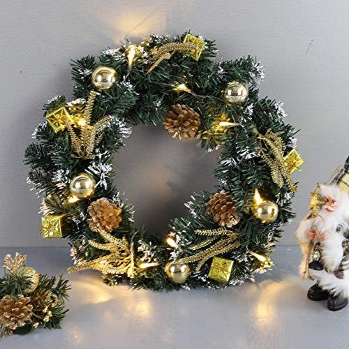 sélectionner pour le dédouanement vendu dans le monde entier magasin meilleurs vendeurs Iswell Christmas Wreath Christmas Decoration con LED Light String Door  Front Holiday Holiday Decoraciones para el hogar 9.8/11.8/15.7 Pulgadas