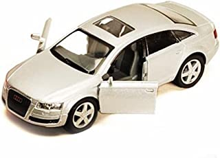 Audi A6, Silver - Kinsmart 5303D -1/38 scale Diecast Model Toy Car (Brand New, but NO BOX)