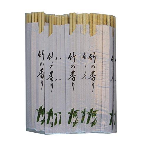 100 Paar Einmal Essstäbchen aus Bambus 21cm einzeln verpackt Einweg Essstäbchen