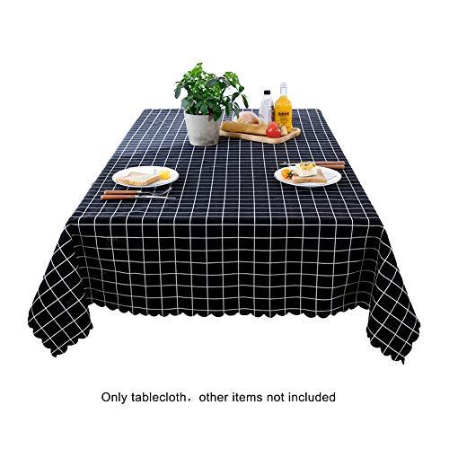 Homeofying - Housse de nappe réutilisable style campagnard vintage réutilisable pour la maison, le restaurant, la mode, motif écossais, Lin, Noir, 70cm*70cm