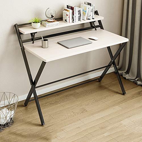 GXC klaptafel voor kantoor, inklapbaar, inklapbaar, van massief hout, multifunctioneel, inklapbaar, standaard in de vorm van een tafelblad van hout, wit