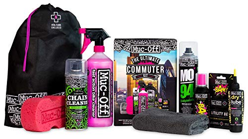 Muc Off Ultimate Commuter Kit Essentials To Maintain Your Bike And Protect From Punctures Includes Bike Cleaner And BAM Instant Puncture Repair