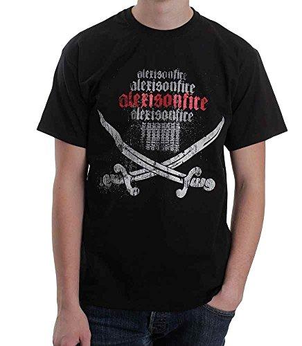 Alexisonfire - Swords T-Shirt, schwarz, Grösse S