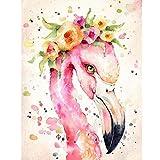 N / A ysyxin Pintura Digital de Bricolaje Flor de Flamenco Niños Adultos Principiantes, Pintura al óleo Pintada a Mano, decoración del hogar.-40 x 50 cm sin Borde