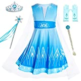 Includes blue dress,tiara,wand,wig,gloves. Rich accessories, your little princess will love it Fun, colorful, dressing on this princess dress makes you stealing the spotlight from the crowd. Made from non-itchy and comfortable fabric,100% polyester. ...