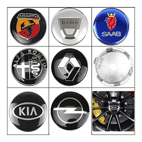 XIUHUA 4pcs 60mm Coche Centro de Ruedas de automóvil Caps Caps Emblem Badge Logo Wheel Center Cap Compatible con BMW Mazda Audi Hyundai KIA Mercedes Lexus Skoda (Color : For Hyundai)