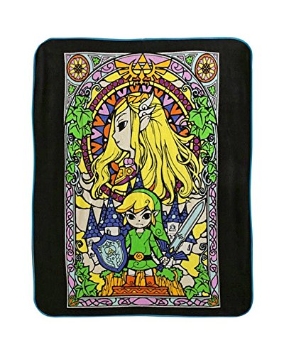 The Legend Of Zelda The Windmaker Stained Glass Micro Raschel Throw