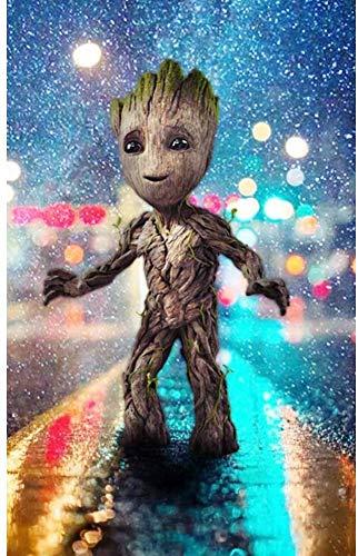 ZHONGYU Groot Treant - Kit de pintura de diamantes 5D para manualidades, cuadro de punto de cruz, para adultos, niños, cumpleaños, Navidad, como regalo de casa, 30 x 40 cm