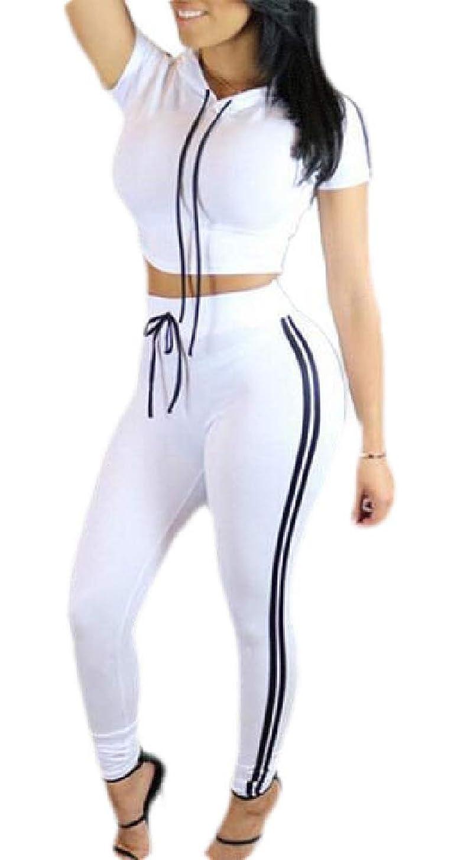 解体するミルク薬局レディース2ピース衣装スポーツボディーコン半袖作物トップロングパンツトラックスーツ