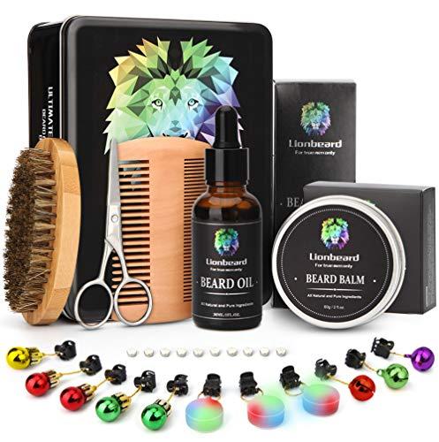 Best Metal Box Beard Kit, Perfect Valentine Gifts for Him Boyfriend, Men Beard Care Growth Grooming...