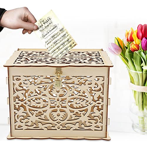 Caja de regalo de dinero DIY caja de tarjeta de boda para fiesta de almacenamiento