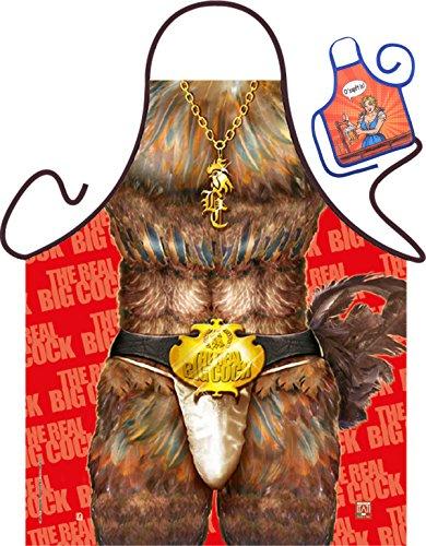 Gallo – Fun Tablier humoristique pour fêtes et mini pour la bouteille