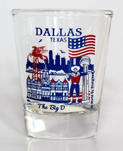 Dallas Texas Great American Cities Collection Shot Glass