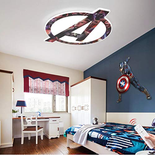 WJLL Superhero Lámpara para Niños Moderna Y Creativa Dormitorio Luz De Techo Habitación Niño Led Lámpara De Techo Lámparas De Interior Iluminación Decoraciones,52cm36W