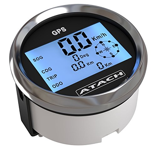 AndyTach 3-3/8'' ATACH DIGITAL GPS speedometer with high speed recall (BLACK/BLACK BEZEL)
